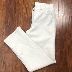 J. Crew City Fit White Jeans Size 6